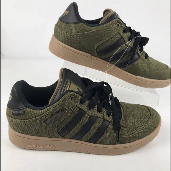 ef08f6e08862 New Adidas Bucktown Olive Black Hemp Size-12